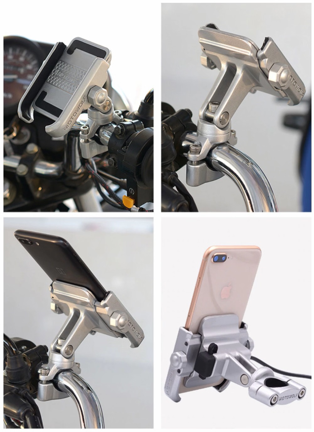 support moto smartphone guidon bmw honda suzuki velo trottinette iphone samsung